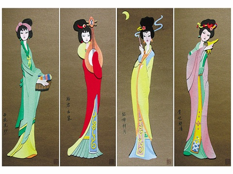 中国传统工艺 布贴画